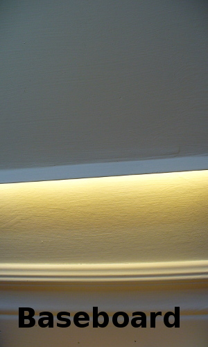 baseboard lighting