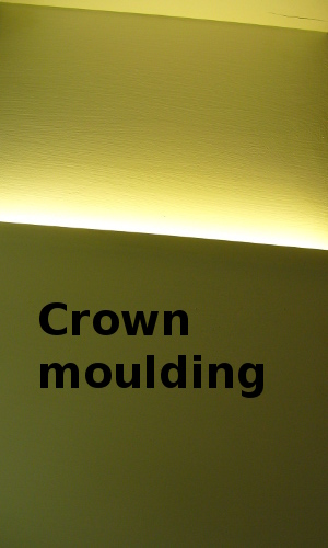 crown moulding lighting